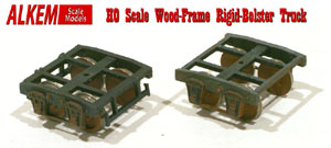 Alkem scale models Ridgid Bolster Wood-Beam Trucks in HO Scale!