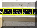 The Train Order signal control panel with switches and LEDs installed.