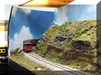 Some new scenery built next tothe Bellinadrop on the Housatonic Railroad